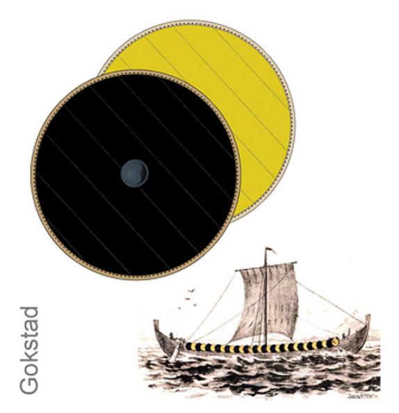 6c9111532 Gule: Gokstadskipets gule og svarte skjold