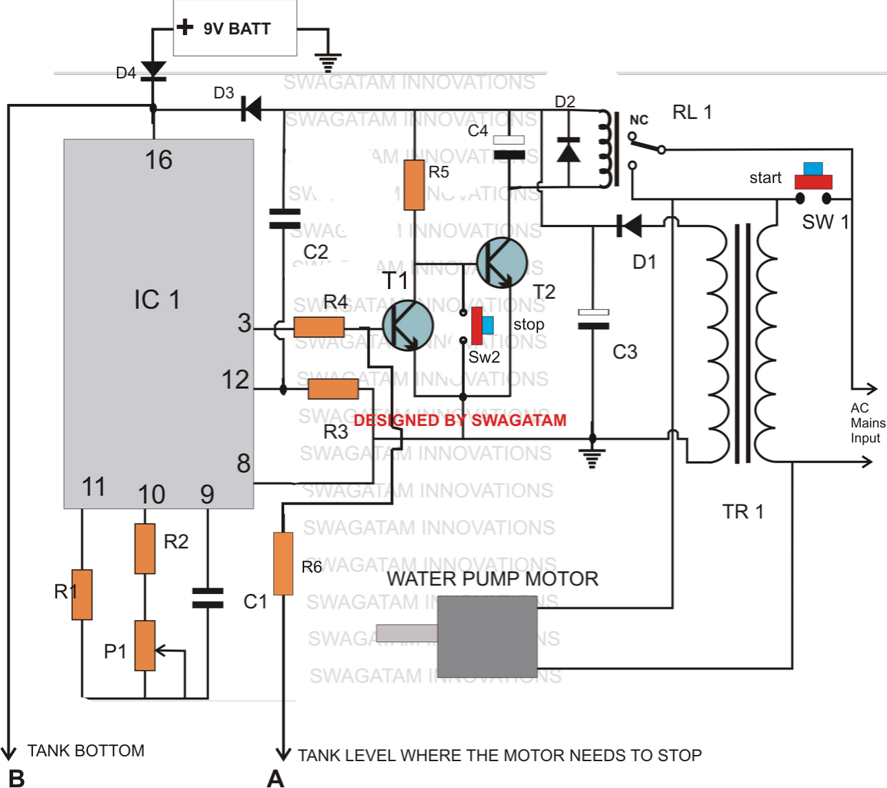Liquid Level Controller Circuit Diagram Kawasaki Bayou 220 Wiring Making A Multi Function Water