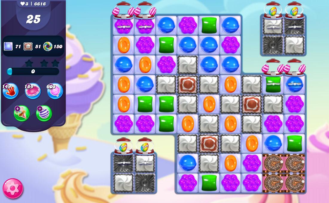 Candy Crush Saga level 6616