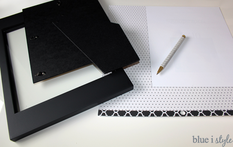 Dry Erase Memo Board Tutorial
