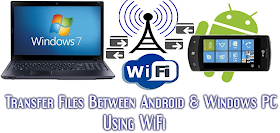 Transferring Files between Android and Windows PC Using WiFi Without USB Data Cable