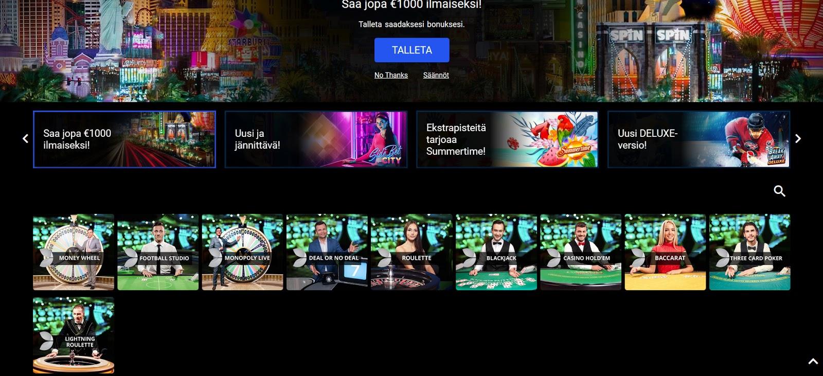 Spin Casino Live-Kasino