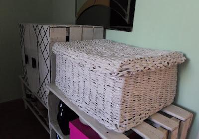 Pudełko na szaliki z papierowej wikliny DIY // Paper wicker box DIY
