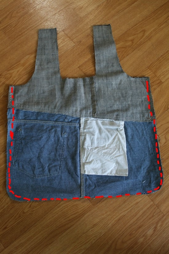 How to sew a bag for shopping of old jeans. Photos sewing instructions.