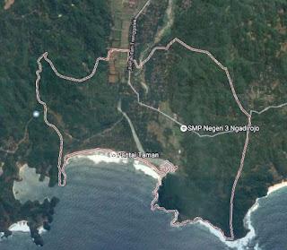 Peta Batas Wilayah Desa Hadiwarno
