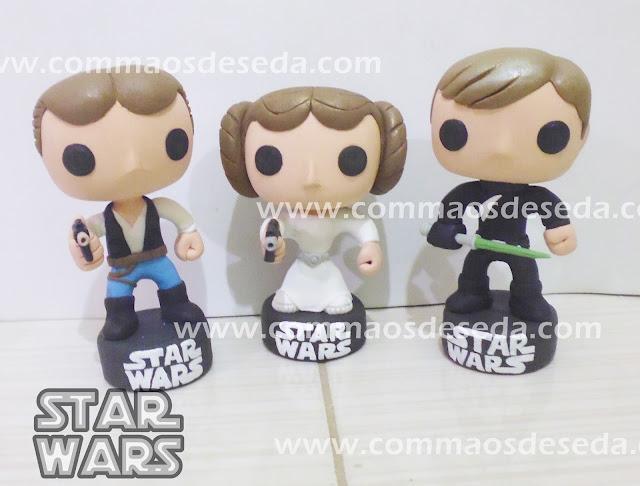 Princesa Leia, Han Solo e Luke Skywalker