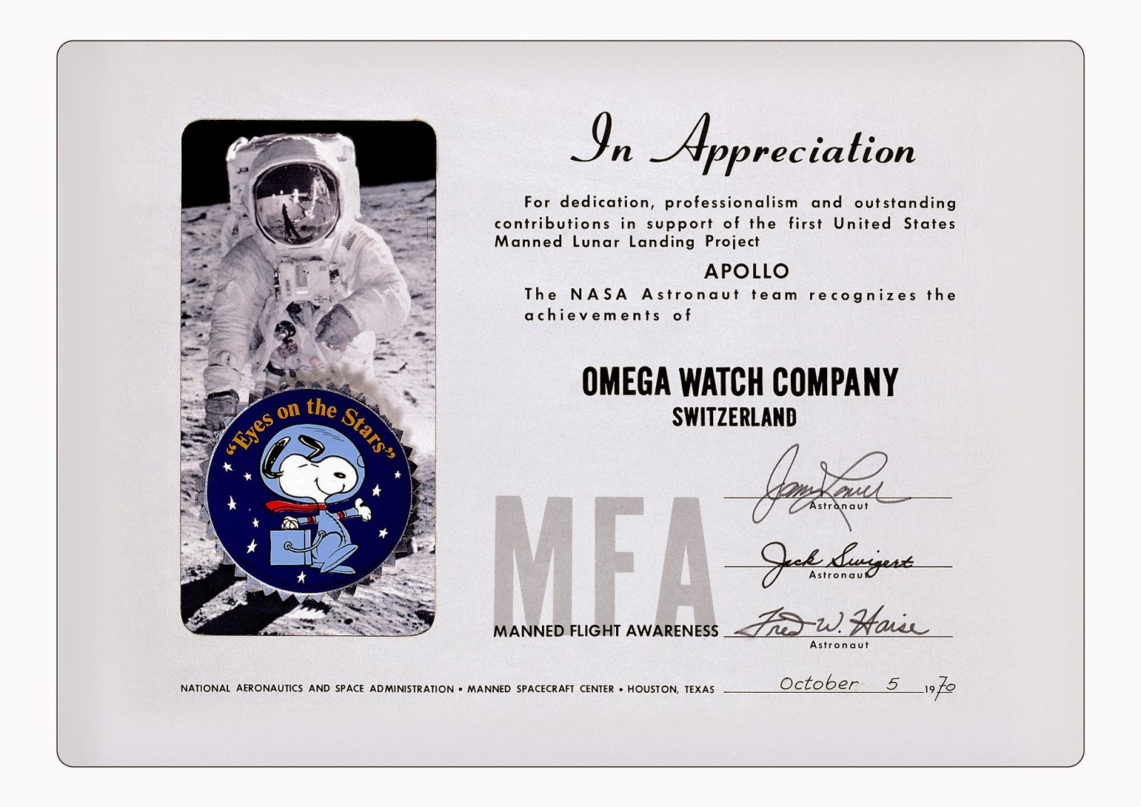 OMEGA Speedmaster Professional Snoopy Edition