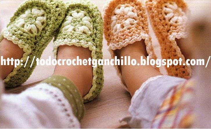 Patucos de niño al crochet