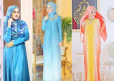 Model Gamis Muslim Dian Pelangi 2017