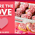 Heart Shaped Doughnuts from Krispy Kreme