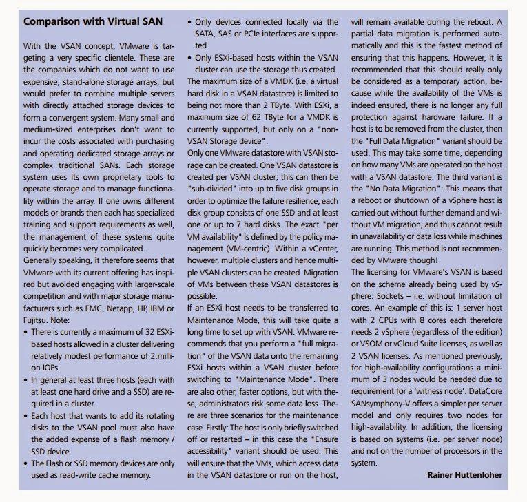 DataCore Virtual SAN ou VMware Virtual SAN