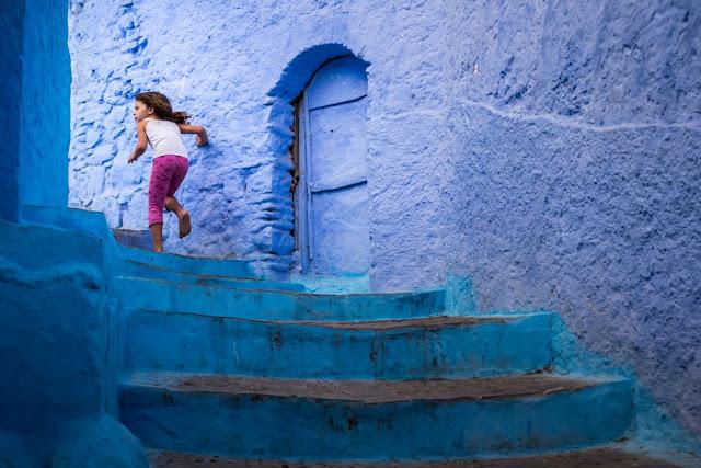 Calle de la Medina de Chefchaouen, Marruecos