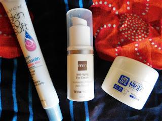 avon, mia mariu, japanese skincare, facial remover, eye cream, facial gel cream