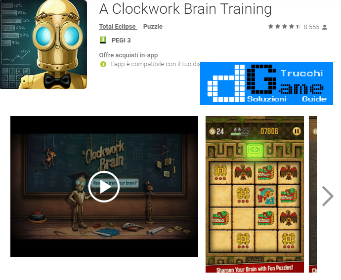 Trucchi A Clockwork Brain Training Mod Apk Android v2.8.0