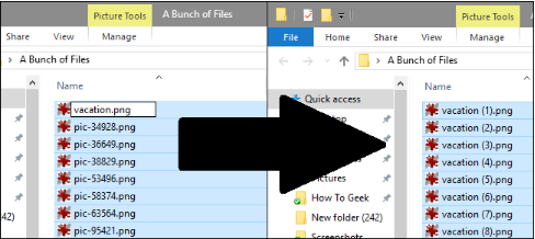 How to rename multiple files all at once.