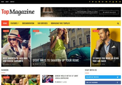 Top magzine Blogger Tamplate
