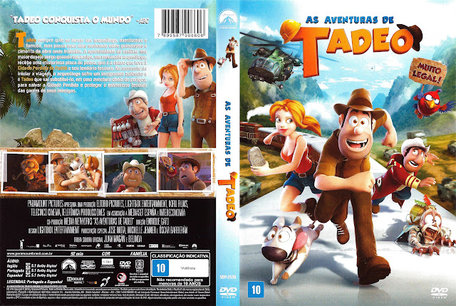 Capa DVD AS AVENTURAS DE TADEO
