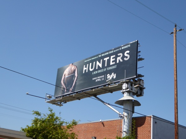 Hunters series launch billboard