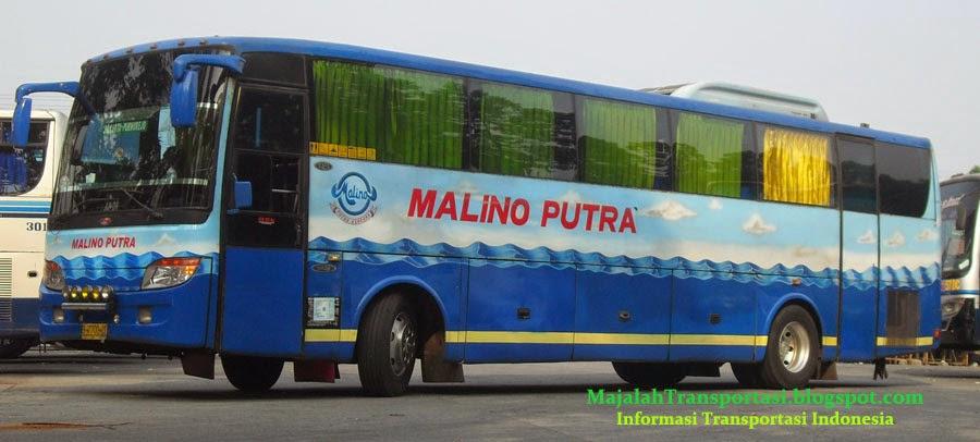 rute dan tarif bus malino putra