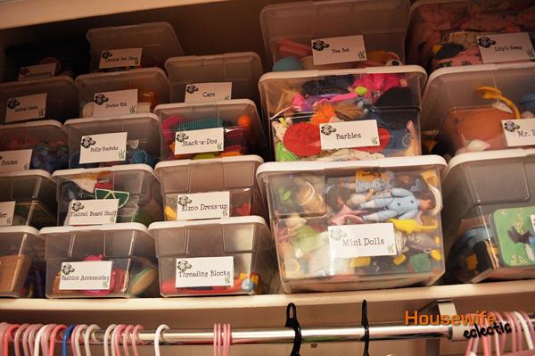 Toy Organization in a Closet/ Kids Closet Organization + Free Label