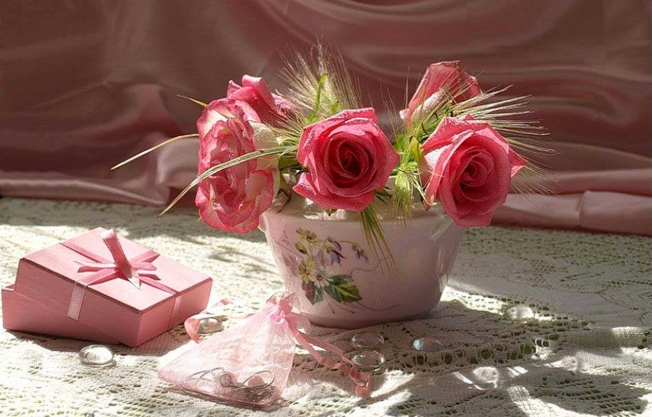 have a good -day lovely-pink-roses