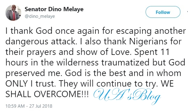 Senator Dino Melaye Regains Freedom After 11hours In Kidnapper's Den