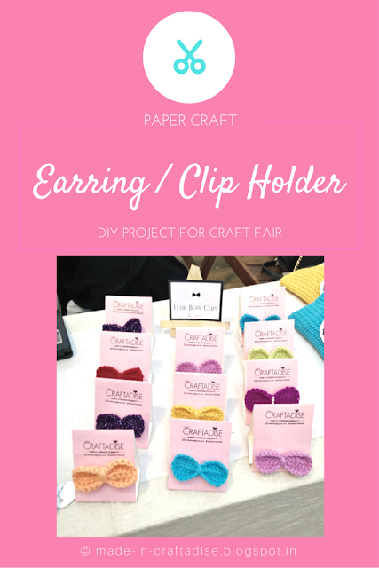 DIY Earring / Hair Clip Display Card for Craft Fair, craft fair display ideas