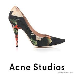 Crown Princess Victoria wore Acne Nova floral print shoes