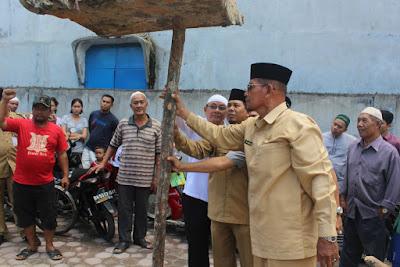 Kakan. Kemenag Tanjungbalai Hadiri Peletakan Batu Pertama Renofasi Masjid Silaturrahim