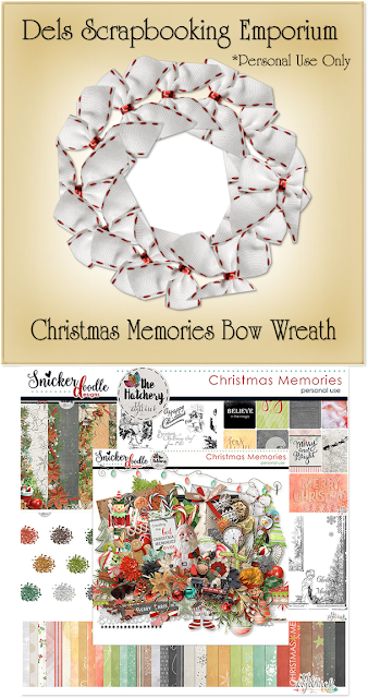 Christmas Memories Bow Wreath