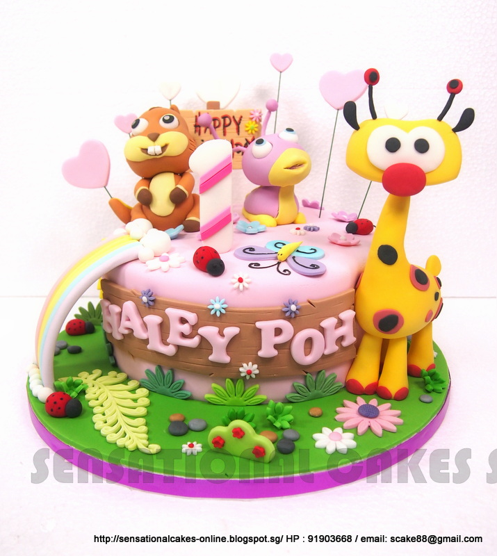 Cakes2Share Singapore BABYTV CAKE SINGAPORE tulli is the purple