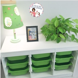 These bins from IKEA make the perfect organizational tool for organizing materials needed for each guided reading group.