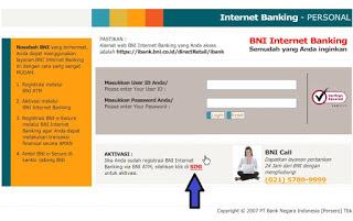 Cara Mudah Daftar Internet Banking BNI 2