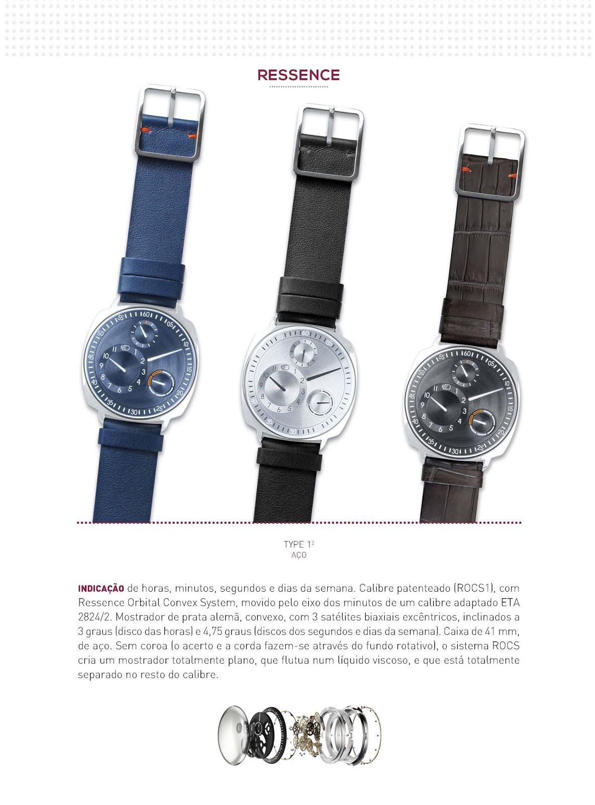496f1b81435 Estação Cronográfica  Os relógios Ressence no Relógios   Canetas online