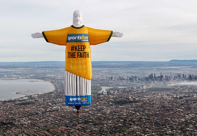 Sportsbet Christ the Redeemer giant balloon