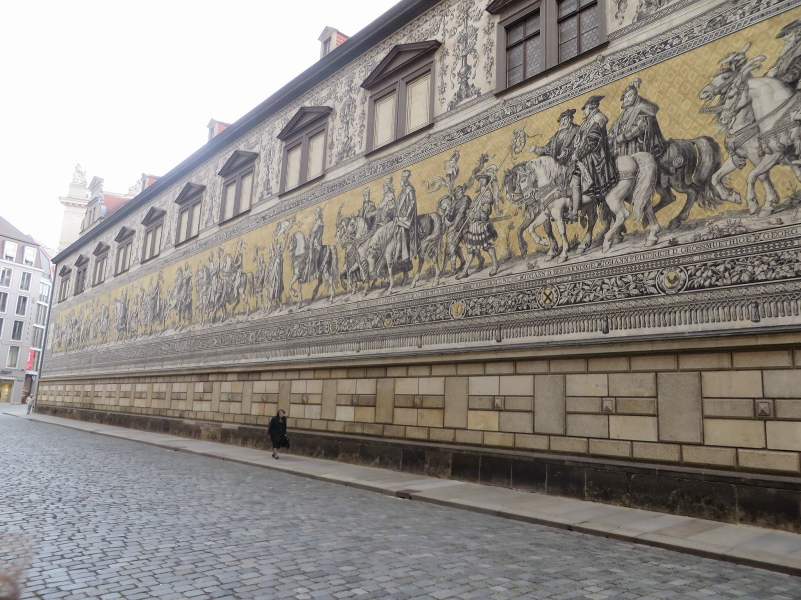 Fürstenzug, Procession of Princes, Tile Mosaic, Dresden, Germany