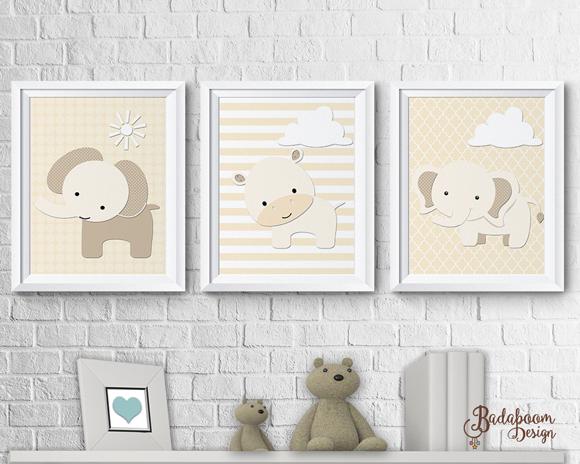 Safari, poster, print, quadro, quadrinhos, elefante, hipopotamo, decoração, infantil, decoração quarto infantil