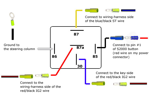 4 pin relay wiring diagram with switch fender noiseless strat pickups a 5 prong blog data schematic drl post
