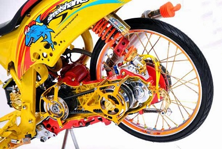Modifikasi Honda scoopy airbrush