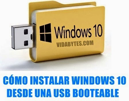 Instalar Windows 10 desde USB
