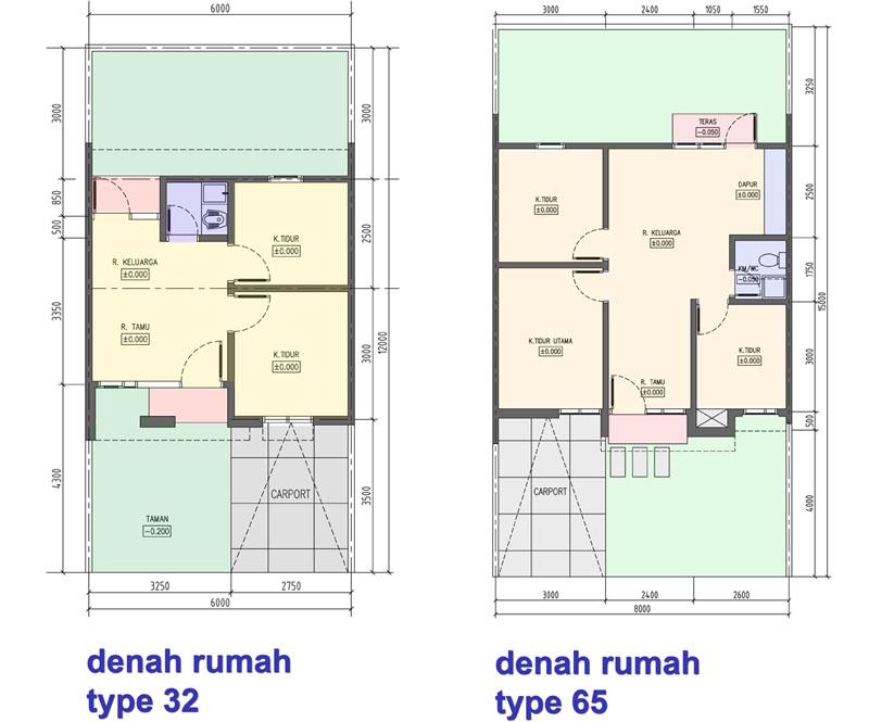 5 Contoh Denah Rumah Sederhana 2020 Inspirasi Desain
