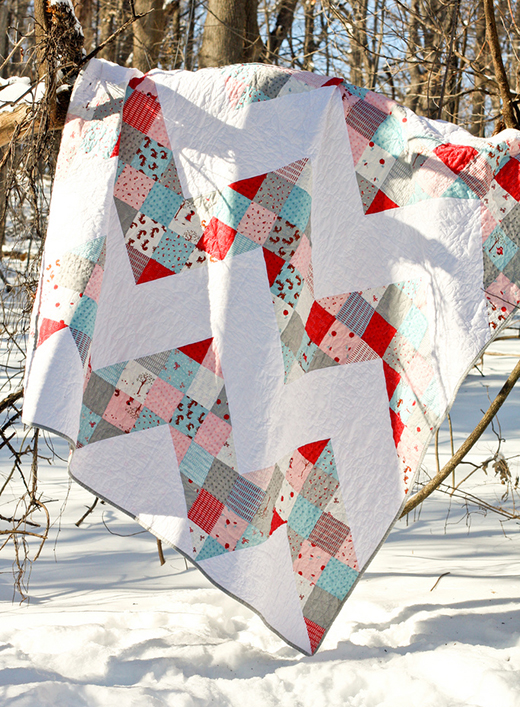 Patchwork Chevron Quilt Free Tutorial Designed by Jeni Baker of In Color Order