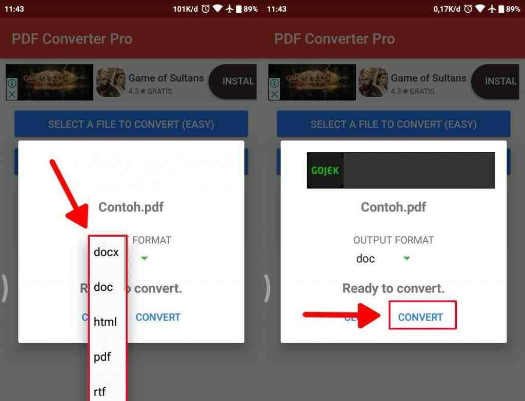 Cara mengubah dokumen PDF ke Microsoft word pada android 3