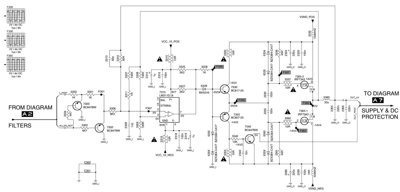 tv remote circuit board diagram