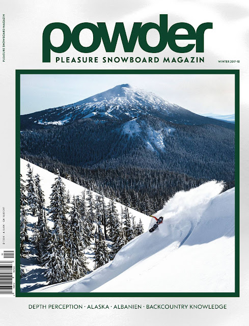 Josh Dirksen on the cover of Pleasure Snowboard Magazine.