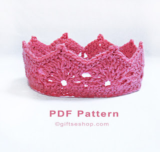 Crochet Crown Pattern- Princess Crown