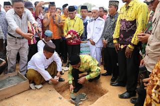 Sayed Jafar Lakukan Peletakkan Batu Pembangunan Masjid Munawwarah