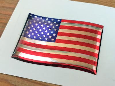 国旗3Dステッカー,フラッグ型,アメリカ,星条旗