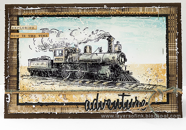 Layers of ink - Scenic Train Card Tutorial by Anna-Karin Evaldsson