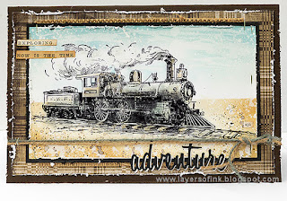 Layers of ink - Scenic Stamping Train Through the Desert Card Tutorial by Anna-Karin Evaldsson